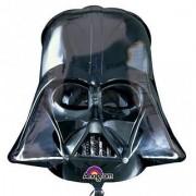 New Black Darth Vader Helmet Star Wars Supershape Foil Balloon