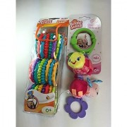 Baby Gift Bundle - 2 Items: Bright Starts Shimmy Shakers Toy and Bright Starts Lots of Links (24-pack)