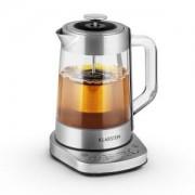 Klarstein Асам Express, 1,5 литра, 1500 W, електрическа кана за вода, електрическа кана за чаѝ, от неръждаема стомана, цедка за чай