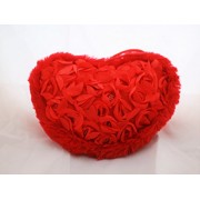 Valentine's Day Gift Sequence Roses Pillow for Her 27 x 25 cm (Red)