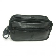 DBE Lambskin Solid Leather Utility Bag Black DBE3068