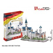 128 Pcs 3d Puzzle Cubic Fun Model MC174H Includes Booklet with Instructions And The History of the M