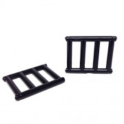 Lego Parts Bar 1 x 4 x 3 with End Protrusions PACK of 2 - Black