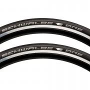 Schwalbe One Folding Tyre Twin Pack - Black - 700c x 23mm