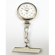 Lasita E967 heren verpleegsterhorloge / -klok Staal Zilver