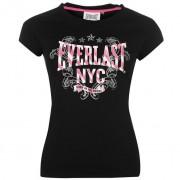Camiseta mujer Everlast negra