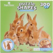 Paper House Jigsaw Shaped Puzzle (300-Piece) 23 x 32 Row of Bunnies