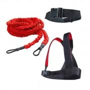Draglina löpning - Med axelfäste och expanderrep löp träning