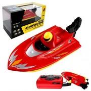 POCO DIVO Pool Motor Boat 2.4Ghz Mini RC Racer Bathtub Yacht Toy Ship - Red