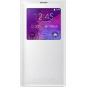 Husa Flip S-View Samsung Galaxy Note 4 N910 Classic Edition White