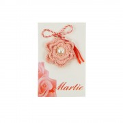 Martisor Brosa, Crosetat Manual, Buticocochet, Shugar Flower
