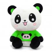 Cute Happy Panda wearing beautiful Green Baby Panda T-shirt