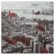Tableau design 'CITY' sur toile imprimée 100x100 cm