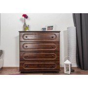 Steiner Shopping Furniture Chest of drawers 014, solid pine wood, nut finish, 4 drawer - H100 x W100 x D42