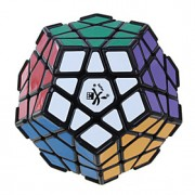 Dayan Cube velocidade lisa MegaMinx Velocidade Cubos Mágicos Preta ABS