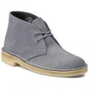 Clarks Półbuty CLARKS - Desert Boot 261173484 Blue/Grey