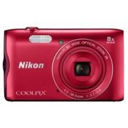 Nikon Coolpix A300 vörös digitális fényképezőgép