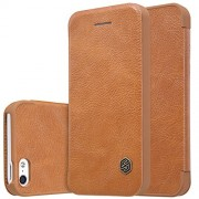 Bluedio Nillkin Qin Series Quickcircle Leather Window Flip Case Cover for Apple Iphone 5/5S/SE - Brown