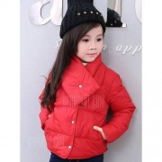 GearBest Button Up Puffer Jacket with Scarf