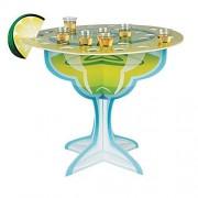 Margarita Glass Shot Glass Holder Tabletop Centerpiece - Holds up to 36 glasses