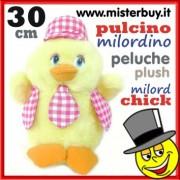 PELOUCHE PULCINO MILORDINO ROSSO alto 30 cm