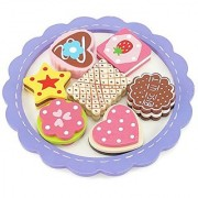 18-inch Doll Food Accessories | 8-piece Cookie Tray with Assorted Hand-painted Wooden Cookies | Fits 18 American Girl Dolls