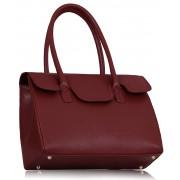 Kabelka LS0047 - LS0047 - Burgundy Ziptop Grab Shoulder Bag