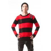 Sweter w paski z zamkami Freddy Crueger - DROP DEAD TOP