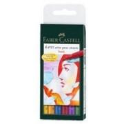 Faber -Castell Pitt Artist Pen, Etui De 6 - Shades Of Grey