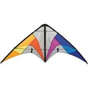 Aquilone acrobatico Quickstep II Rainbow HQ-Invento a 2 cavi per iniziare. Dimensioni: 130 x 60 cm