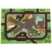 Airport & Highway Playmat (39 X 29 Inches) 2 Runways, Helipad & Highways