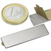 Magnet neodim bloc cu autoadeziv, 40x12x1