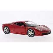 Ferrari 458 Italia, Red, Model Car, Ready Made, Bburago 1:24