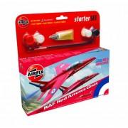 Airfix - Kit pequeño con pinturas, avión Red Arrow Gnat (Hornby A55105)