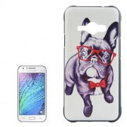 Bulldog Pattern PC Protective Case for Samsung Galaxy J1 Ace / J110