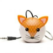 Boxa portabila Trendz Mini Buddy Fox, Alb/Roscat