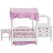 Dollhouse Bedroom Furniture Bed Dresser Nightstand