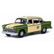 1981 Chicago Checker Taxicab, Yellow Sun Star 2502 1/18 Scale Diecast Model Toy Car