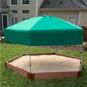 Frame It All 8' W Hexagon Sandbox with Cover 300001365