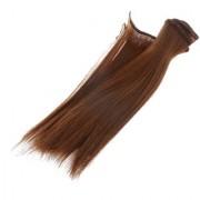 Magideal 15X100Cm Diy Wig Straight Hair For Bjd Sd Barbie Dolls #6
