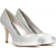Steve Madden Women Silver Glitter Heels