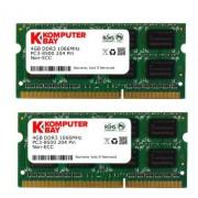 Komputerbay 8GB (2x 4GB) DDR3 SODIMM (204 broches) fait avec Hynix Semiconductors 1066Mhz PC3 8500 pour Apple 8 Go (7-7-7-20)