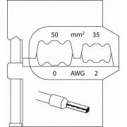 Insert modulaire pour douilles d'extrémité de câbles 50/35mm - 8140-08
