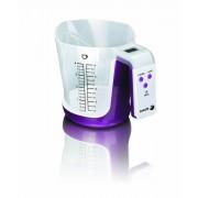 Fagor BC 500 - Báscula de cocina con bol medidor extraible, capacidad 3kg, función Tara