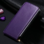 Purple Leather Vertical Flip Case For Apple iPhone 5 / 5S / SE