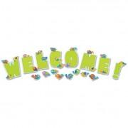 Boho Birds Welcome Bulletin Board Set, 17 Pieces/kit
