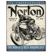 """Sign - Norton - World's Best Roadholder"""