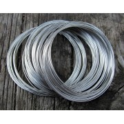 Memorywire armband - Silverfärgad, 0,6mm, ca 100 varv