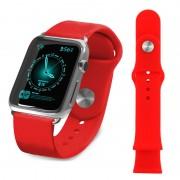 Pulseira de Silicone Tuff-Luv para Apple Watch - 38mm - Vermelho