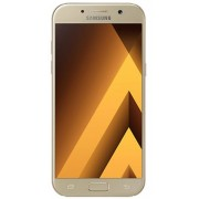 "Telefon Mobil Samsung Galaxy A5 (2017), Procesor Octa-Core 1.9GHz, Super AMOLED Capacitive touchscreen 5.2"", 3GB RAM, 32GB Flash, 16MP, 4G, Wi-Fi, Dual-Sim, Android (Auriu) + Cartela SIM Orange PrePay, 6 euro credit, 4 GB internet 4G, 2,000 minute nationa"